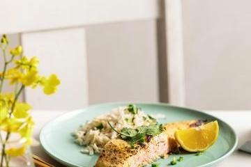 Baked Huon Salmon in Spiced Yoghurt